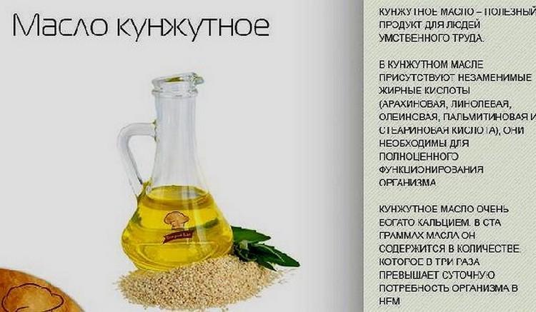 Применение кунжутного масла