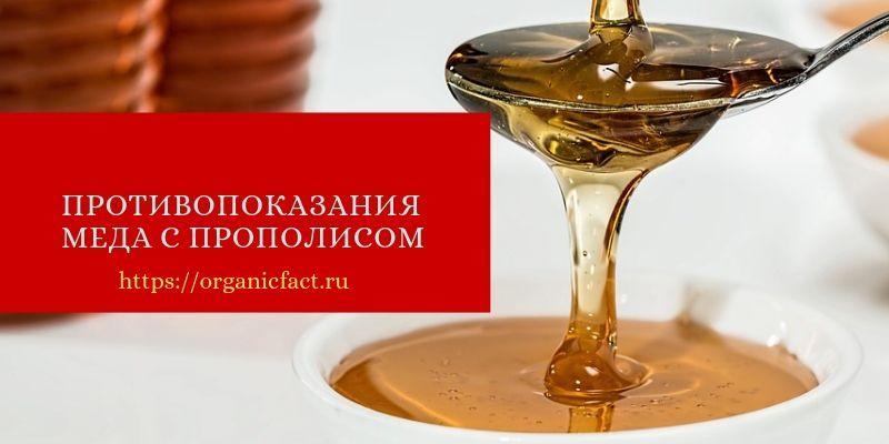 Противопоказания меда с прополисом