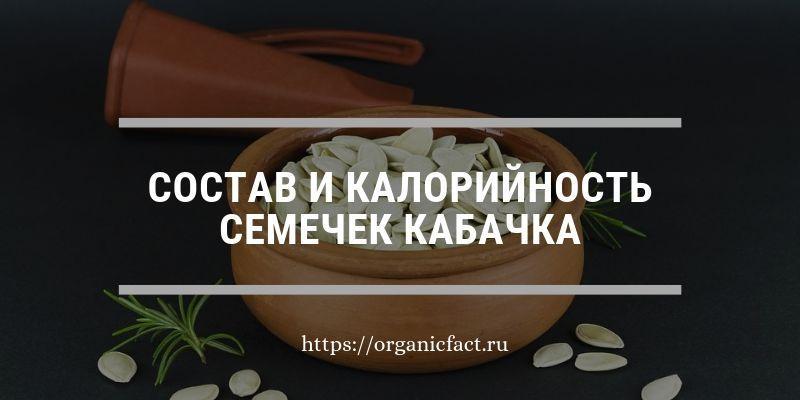 Состав и калорийность семечек кабачка
