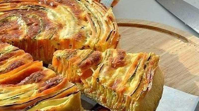 Кабачковый низкокалорийный пирог