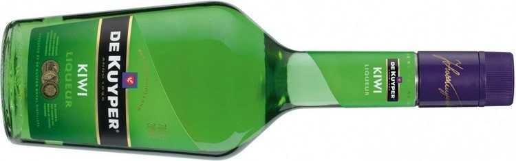De Kuyper Kiwi – марочный, ярко-зеленый, кисло-сладкий