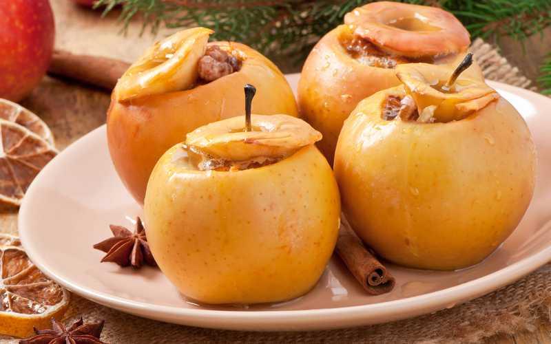 Печеные яблоки при диабете