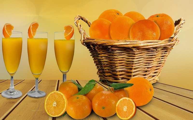 Польза свежевыжатого сок апельсина