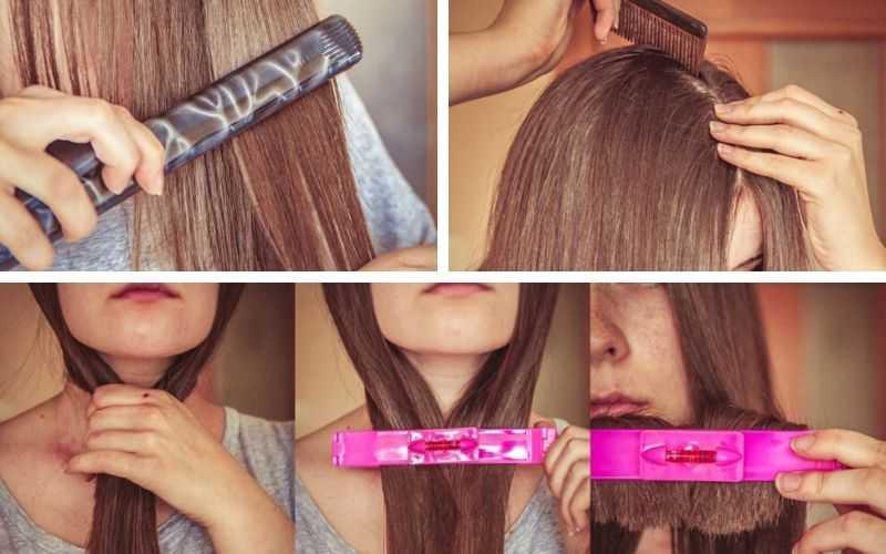 Способ 3 «С помощью парикмахерского уровня»