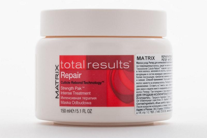 маски для восстановления поврежденных волос Matrix