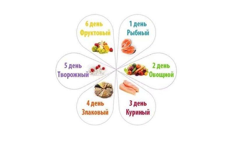 Диета 6 лепестков: примерное меню на каждый день, рецепты