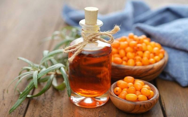 Каратиноиды в облепиховом масле одарили его красно-оранжевым цветом